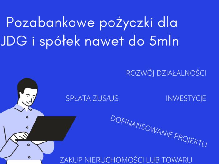 Pożyczki dla przedsiębiorców na cele inwestycyjne lub spłatę ZUS/US